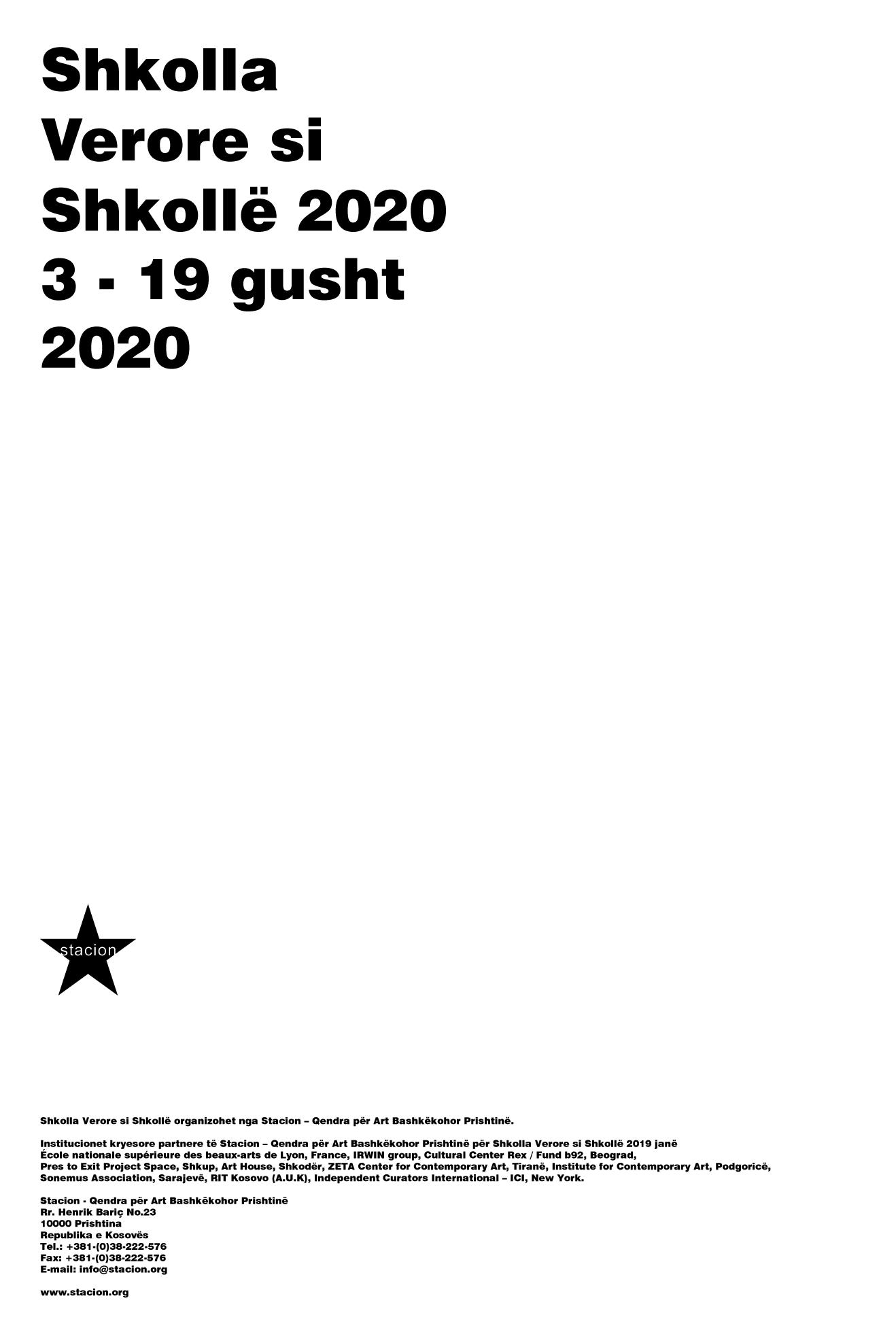 Shkolla Verore si Shkollë 2020